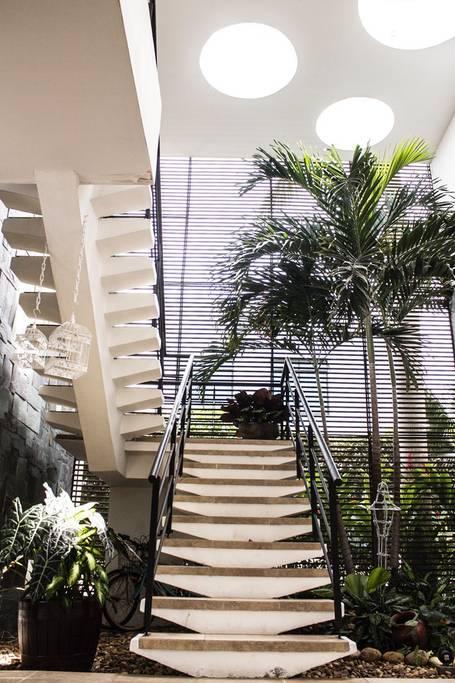 Escaleras de cabaña en Melgar